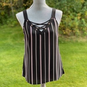 Striped sleeveless top, size S